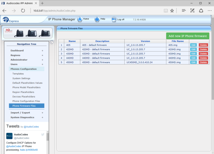 Getting started with AudioCodes IP Phone Manager Express – SysNetDevOps